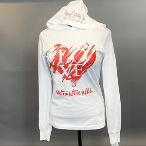 Graphic Crossover White Hoodie
